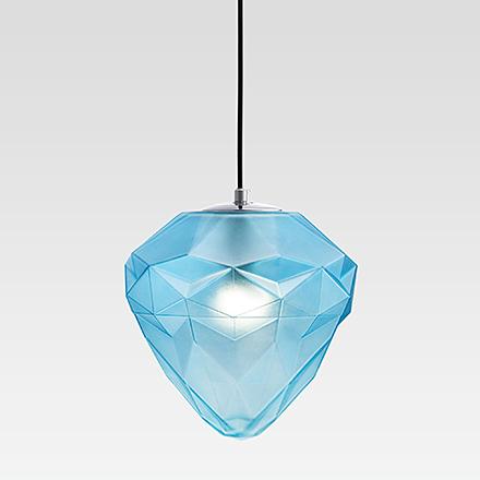 Подвесной светильник цвет хром/голубой [Фото №2]