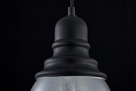 Подвесной светильник цвет черный/дымчатый [Фото №2]