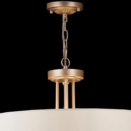 Подвесной светильник цвет матовое золото/кремовый [Фото №2]