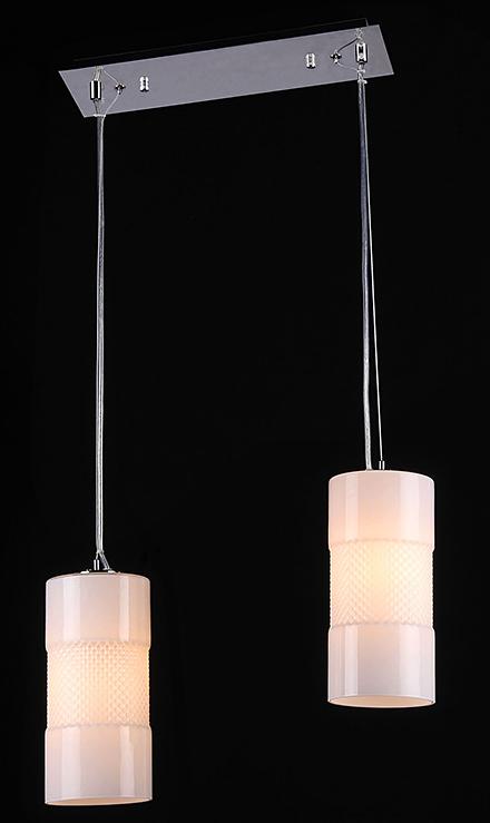 Подвесной светильник цвет никель/матовый белый [Фото №2]