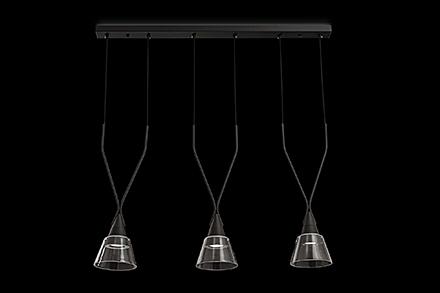 Подвесной светильник цвет черный/прозрачный [Фото №2]