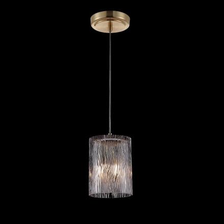 Одиночный подвесной светильник (латунь, прозрачный)