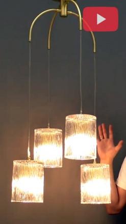 Подвесной светильник цвет латунь/прозрачный [Фото №2]