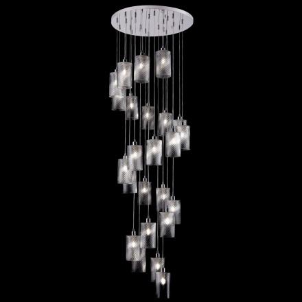 Подвесной светильник цвет хром/прозрачный [Фото №2]