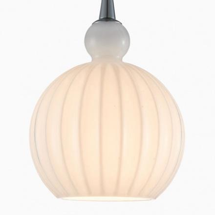 Подвесной светильник из стекла (хром, белый)