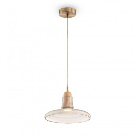 Подвесной светильник цвет латунь/янтарный [Фото №2]
