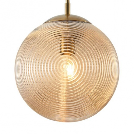 Подвесной светильник серый шар