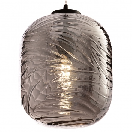 Подвесной светильник цилиндр (цвет матовый черный, дымчатый)