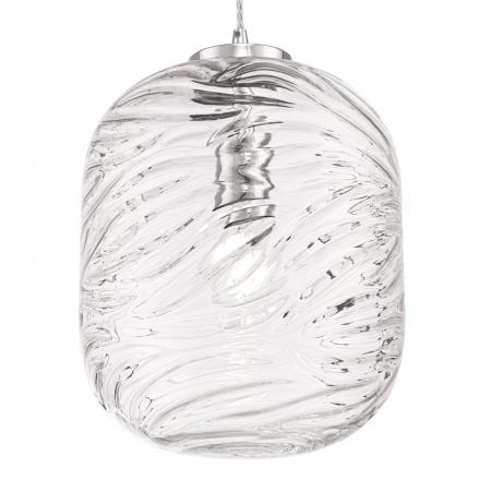 Подвесной светильник цилиндр (хром, прозрачный)