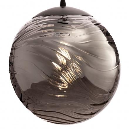 Подвесной светильник шар (цвет матовый черный, дымчатый)
