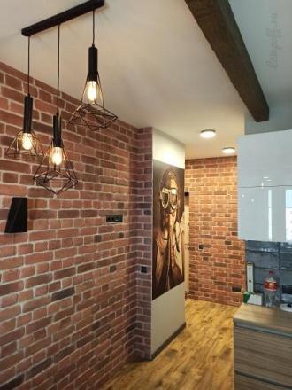 Тройной подвесной светильник из прутков в стиле лофт