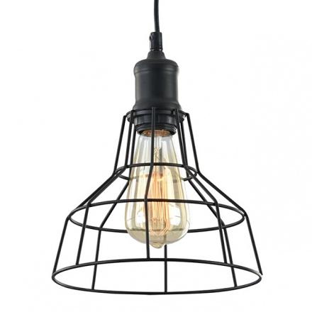 Светильник-лампа с обрешеткой в стиле лофт