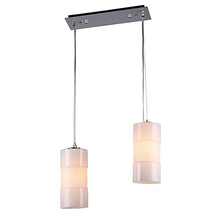 Подвесной светильник (никель, матовый белый)