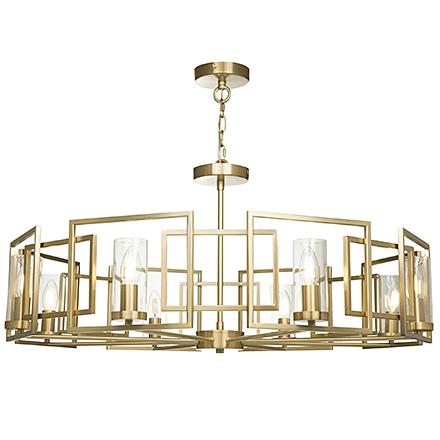 Круглый подвесной светильник (золото)