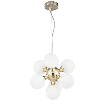 Подвесной светильник молекула (золото, белый)