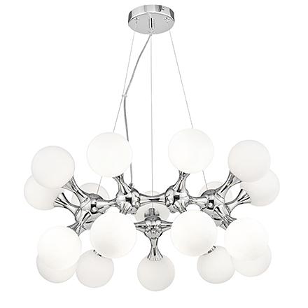 Подвесной светильник молекула (хром, белый)