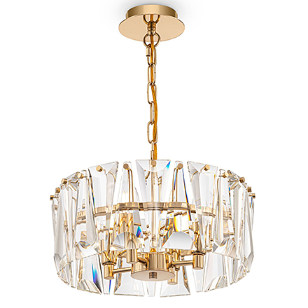 Подвесной светильник стеклянный (золото)