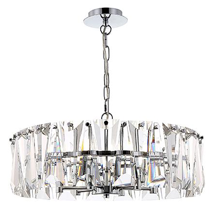 Подвесной светильник стеклянный (хром)