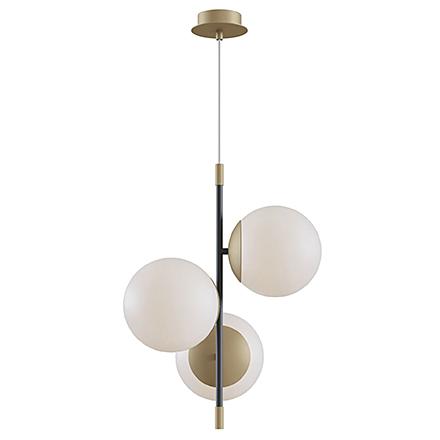 Подвесной светильник с шарами (цвет матовое золото, белый)