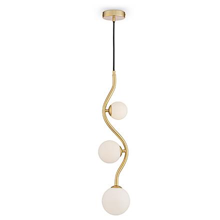 Подвесной светильник с шарами (золото, белый)