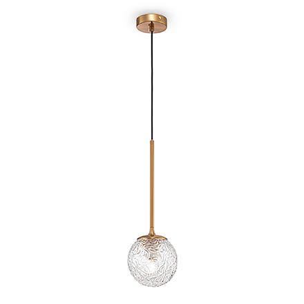 Подвесной рифленый плафон-шар
