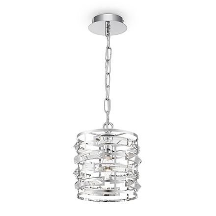 Подвесной светильник (хром, прозрачный)