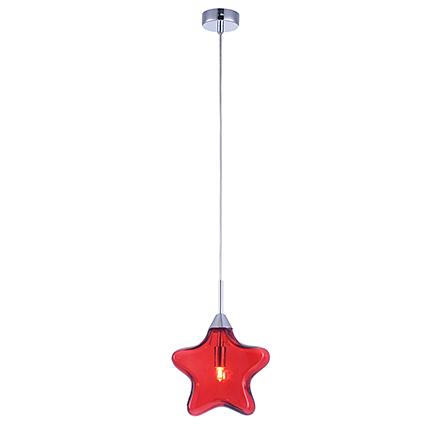 Pendant Star 1: Подвесной светильник звезда (цвет красный)