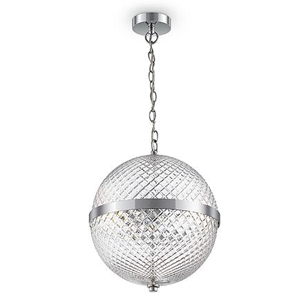 Подвесной светильник сфера (хром, прозрачный)