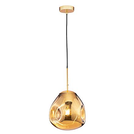 Мятый подвесной плафон (золото)