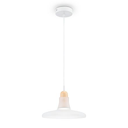 Подвесной светильник виде тарелки (белый)