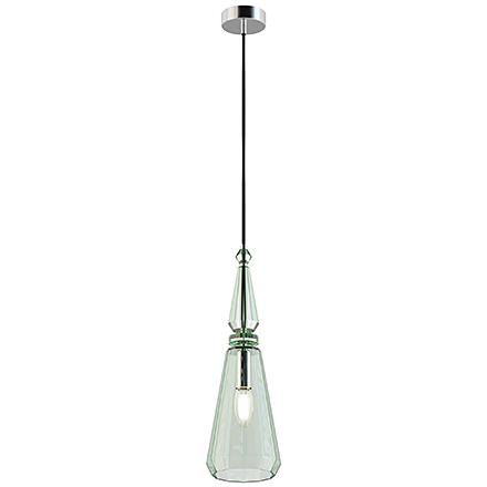 Подвесной светильник из стекла (хром, зеленый)