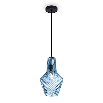 Подвесной светильник цвет синий [Фото №2]