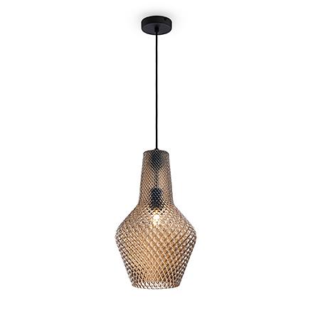 Подвесной светильник из коричневого стекла