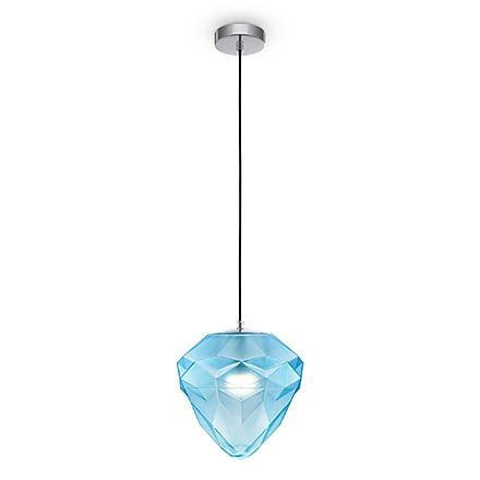 Подвесной светильник (хром, голубой)