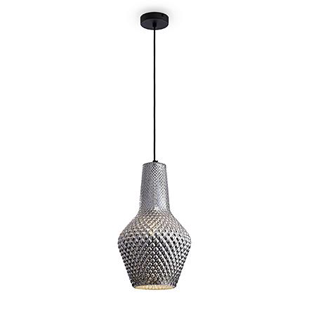 Подвесной светильник из серебристого стекла
