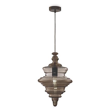 Подвесной светильник (цвет матовый черный, дымчатый)