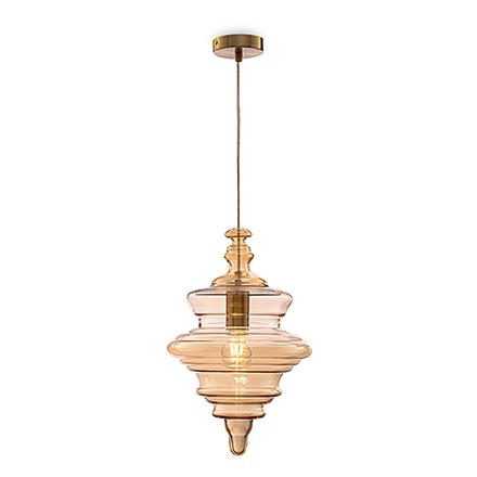Подвесной светильник (латунь, янтарный)