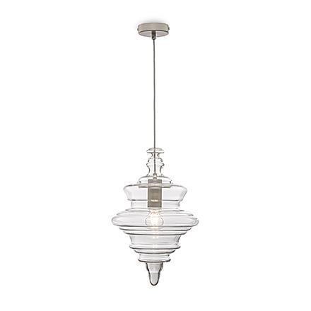 Подвесной светильник цвет матовый белый/прозрачный [Фото №2]