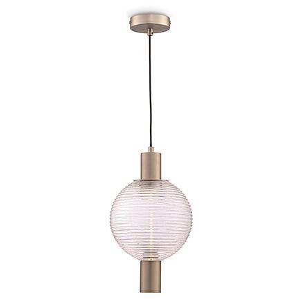 Подвесной светильник шар (никель, прозрачный)