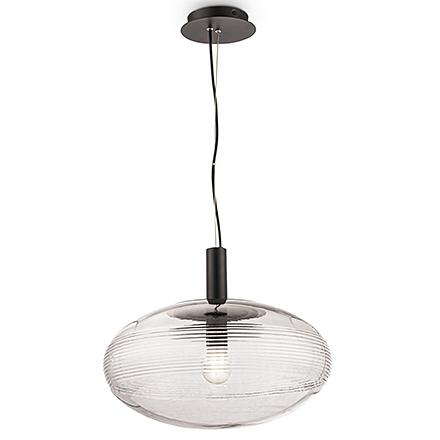 Подвесной светильник сфера (цвет черный, прозрачный)