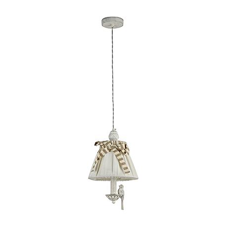 Подвесной светильник цвет белый антик [Фото №2]