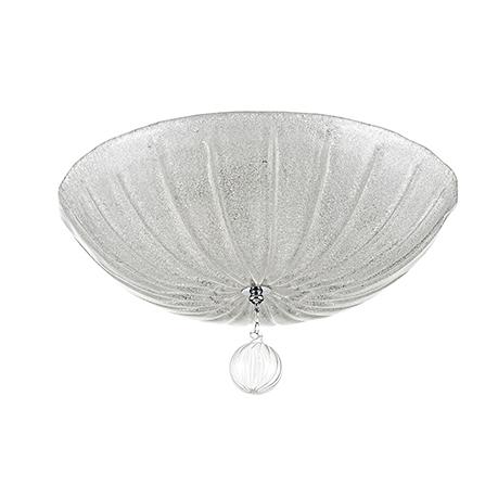 Ceiling & Wall Sienna 3: Потолочный плафон белого цвета 50 см. (хром)