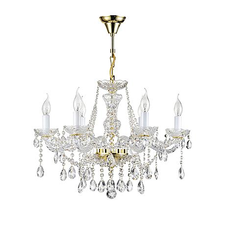 Diamant Crystal Beatrix 6: Классическая хрустальная люстра со свечами