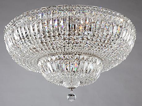 Diamant Crystal Basfor 16: Хрустальная люстра потолочная на 16 ламп (серебро)