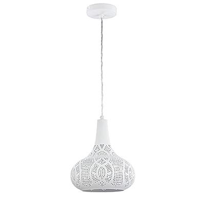 Подвесной абажур из металла с отверстиями (цвет белый)