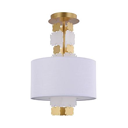 Потолочный светильник цвет латунь/белый [Фото №2]
