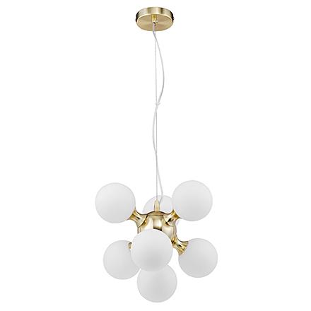 Подвесной светильник цвет золото/белый [Фото №2]