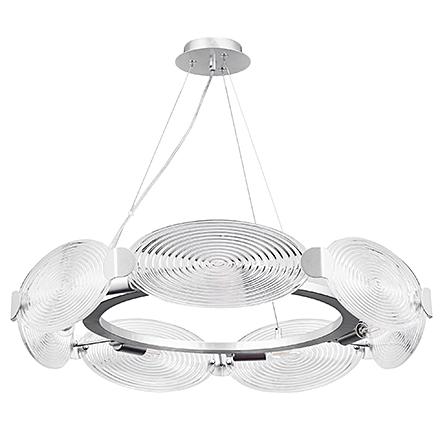Подвесной светильник цвет серебро/прозрачный [Фото №2]