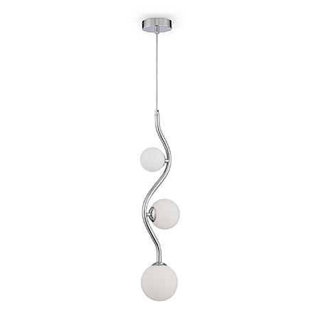 Подвесной светильник (хром, белый)
