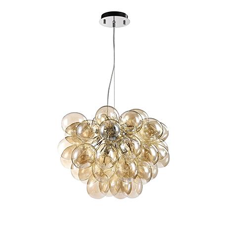 Подвесной светильник с шариками гроздью (никель)